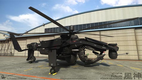 fuujin attack helicopter