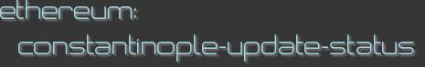 ethereum: constantinople-update-status