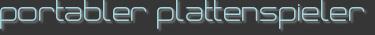 portabler plattenspieler