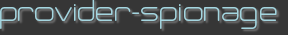 provider-spionage