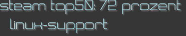 steam top50: 72 prozent linux-support