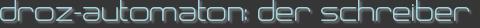 droz-automaton: der schreiber