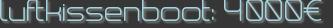 luftkissenboot: 4000€