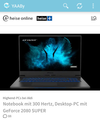ALDI Highend-Laptop in 2020: 300Hz!