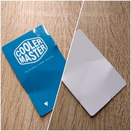 Cooler Master CPU-Karte fuer Waermeleitpaste - Call it Keycard!