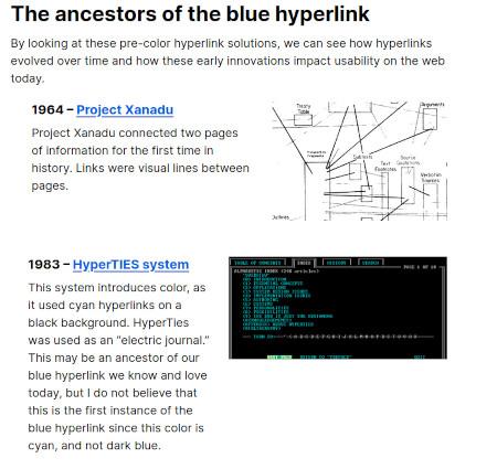 Warum Hyperlinks blau sind