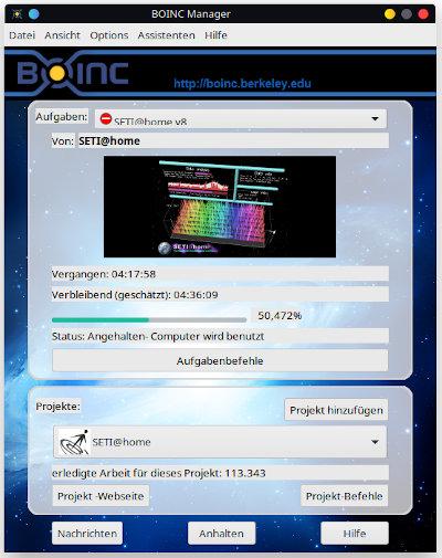 Mein SetiATHome-Linux-Client