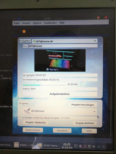 Mein SetiATHome-Linux-Client am 31.03.20