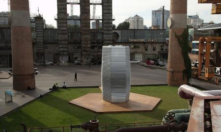 smog tower by studio roosegarde