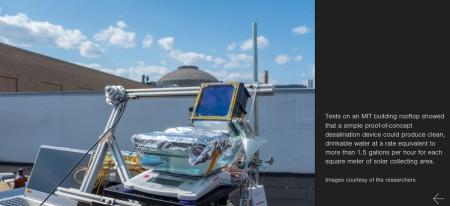 Solarbetriebene Meerwasserentsalzung