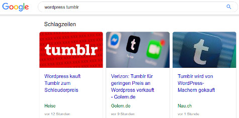 WordPress kauft Tumblr zum Spottpreis