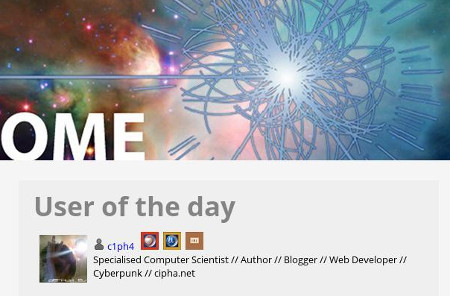 ATLAS@home: User of the Day Screenshot