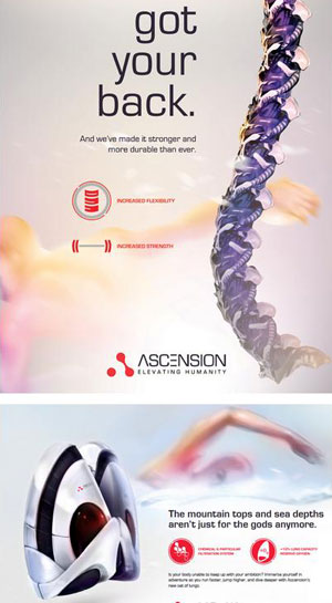 ascension body parts