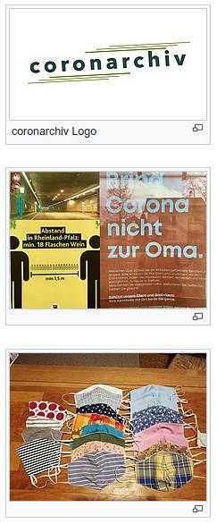 coronarchiv: Logo und Inhalte