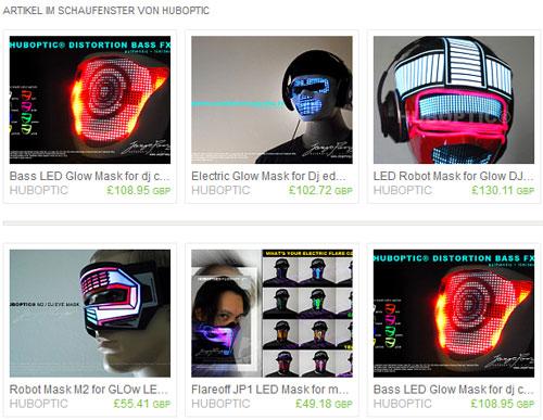 cyberpunk-masken von huboptic