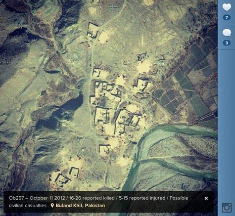 drohnenkrieg in pakistan. auf instagram.