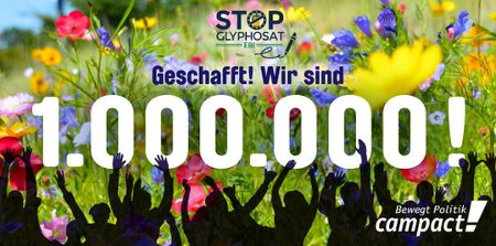 Respekt: 1 Million gegen Glyphosat
