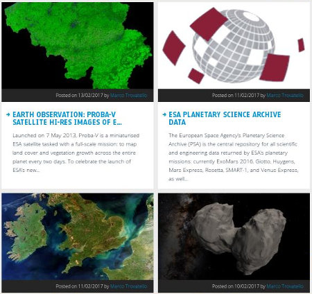 esa: open access program screen shot