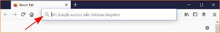 Neue Adressleiste bei Firefox 75