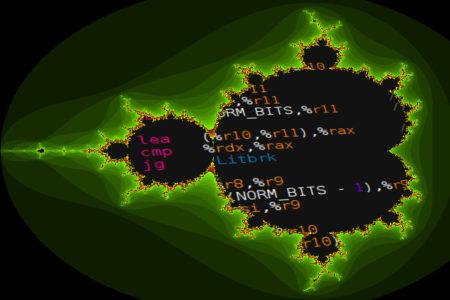Codeschnipsel hinter einem Fraktal