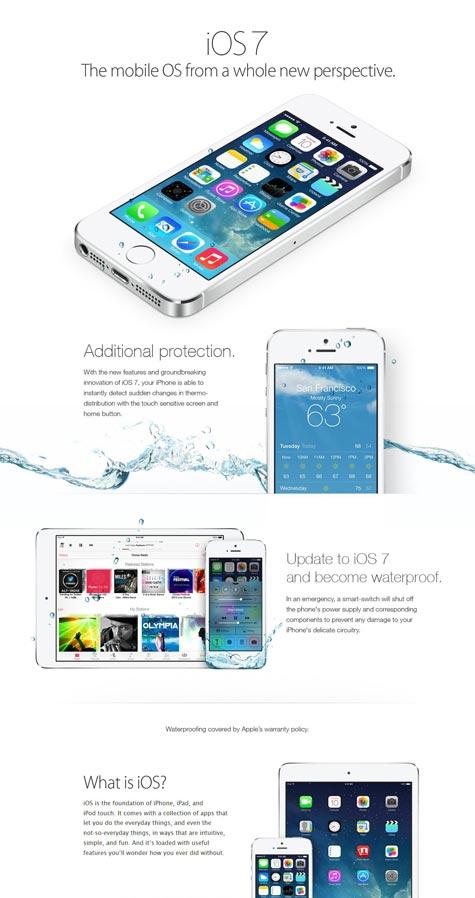iOS7 macht iPhones wasserdicht!1