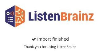 listenbrainz: import erfolgreich