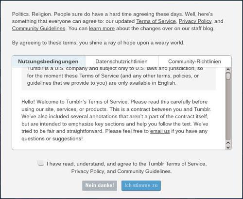 neue tumblr-richtlinien