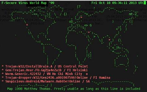 echtzeit-virus-weltkarte in python geschrieben